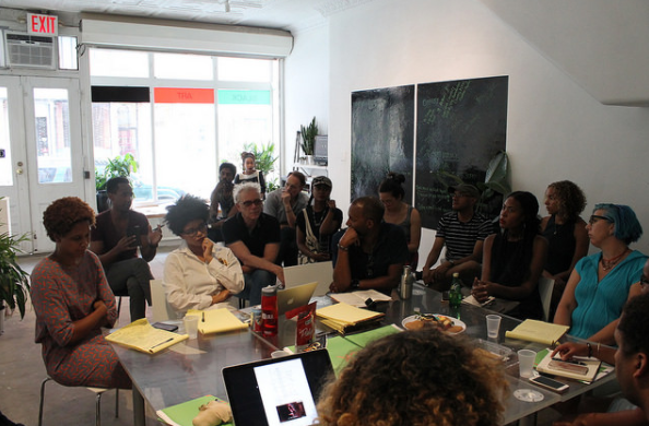 Black Art Incubator workshop event. Photo courtesy of Recess