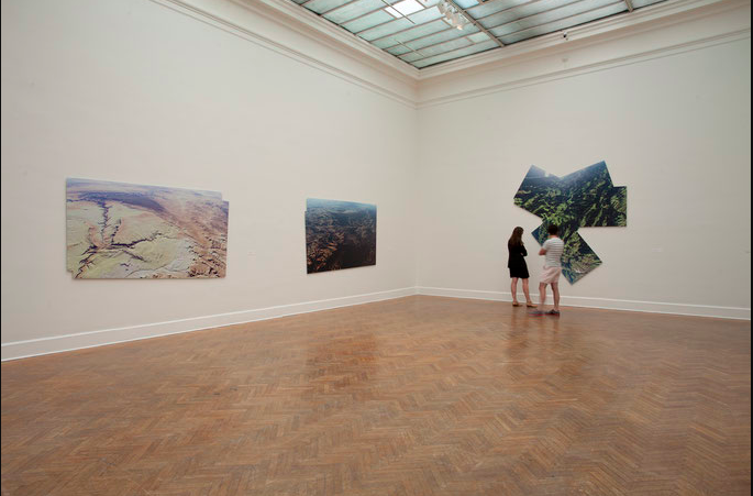 Mark Tribe, Installation View of Plein Air,   Corcoran Gallery of Art, Washington, DC, 2014