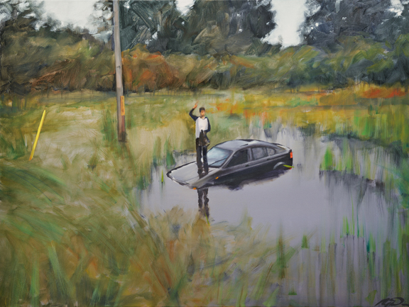 Somewhere in Manitoba (2014) 36 x 48 oil on canvas
