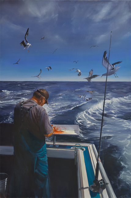 The Fisherman (2014) 72 x 48 oil on canvas