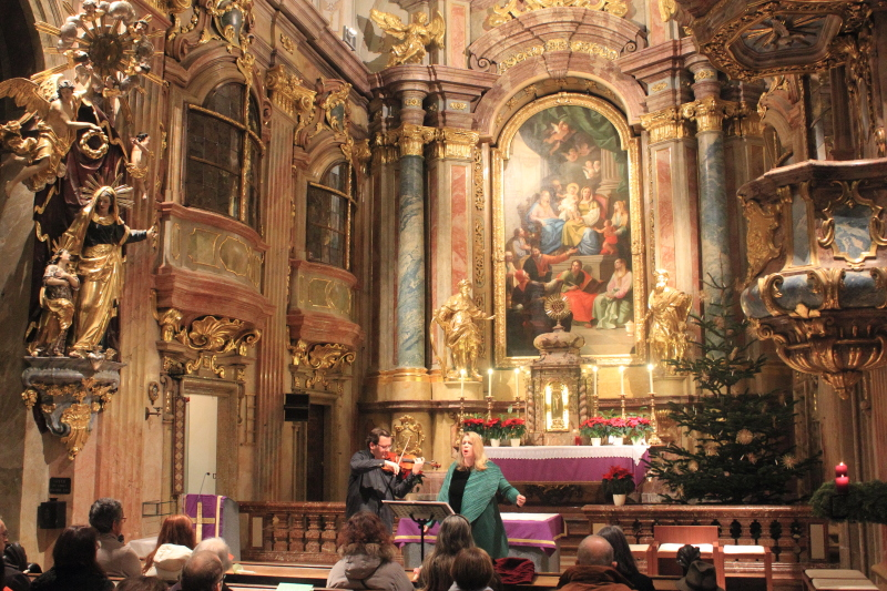 The Diva and the Fiddler perform in Vienna, Austria.