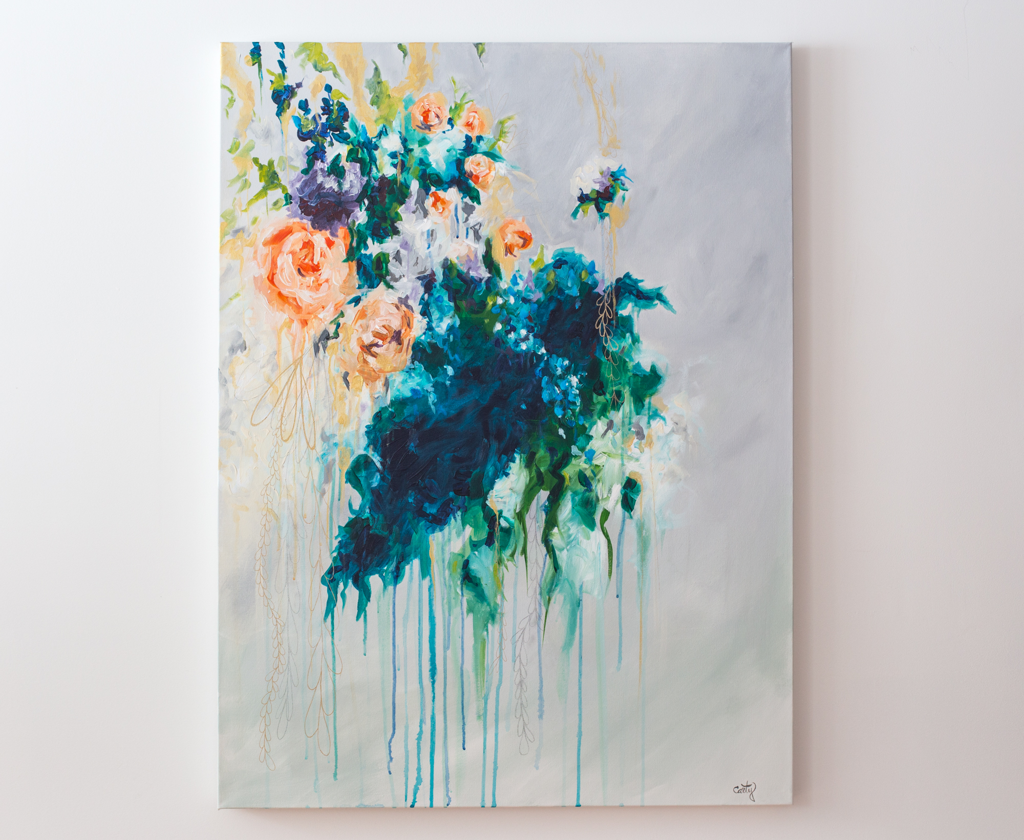 floral painting by Megan Carty