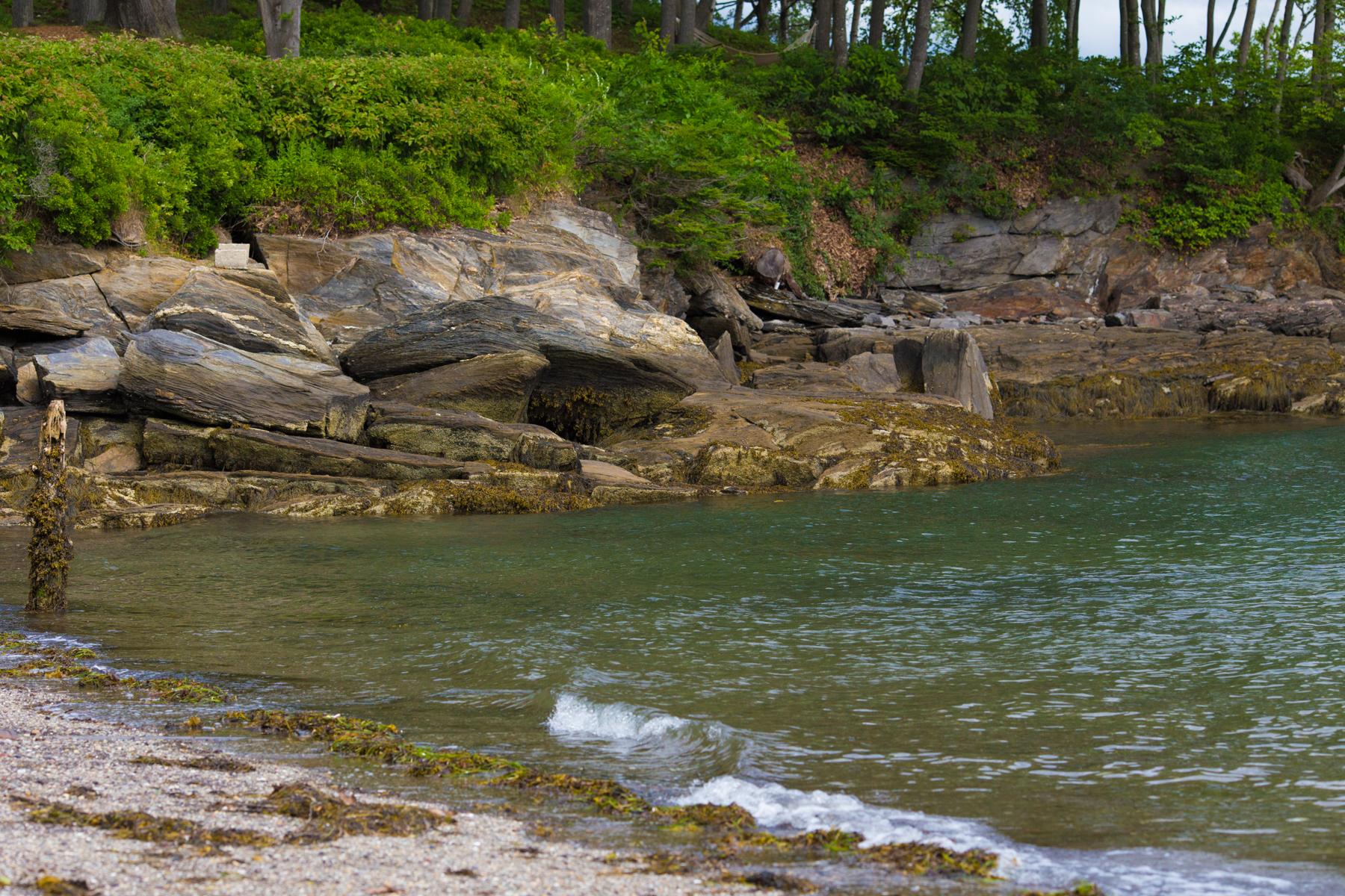 sea glass beach, great diamond island, maine