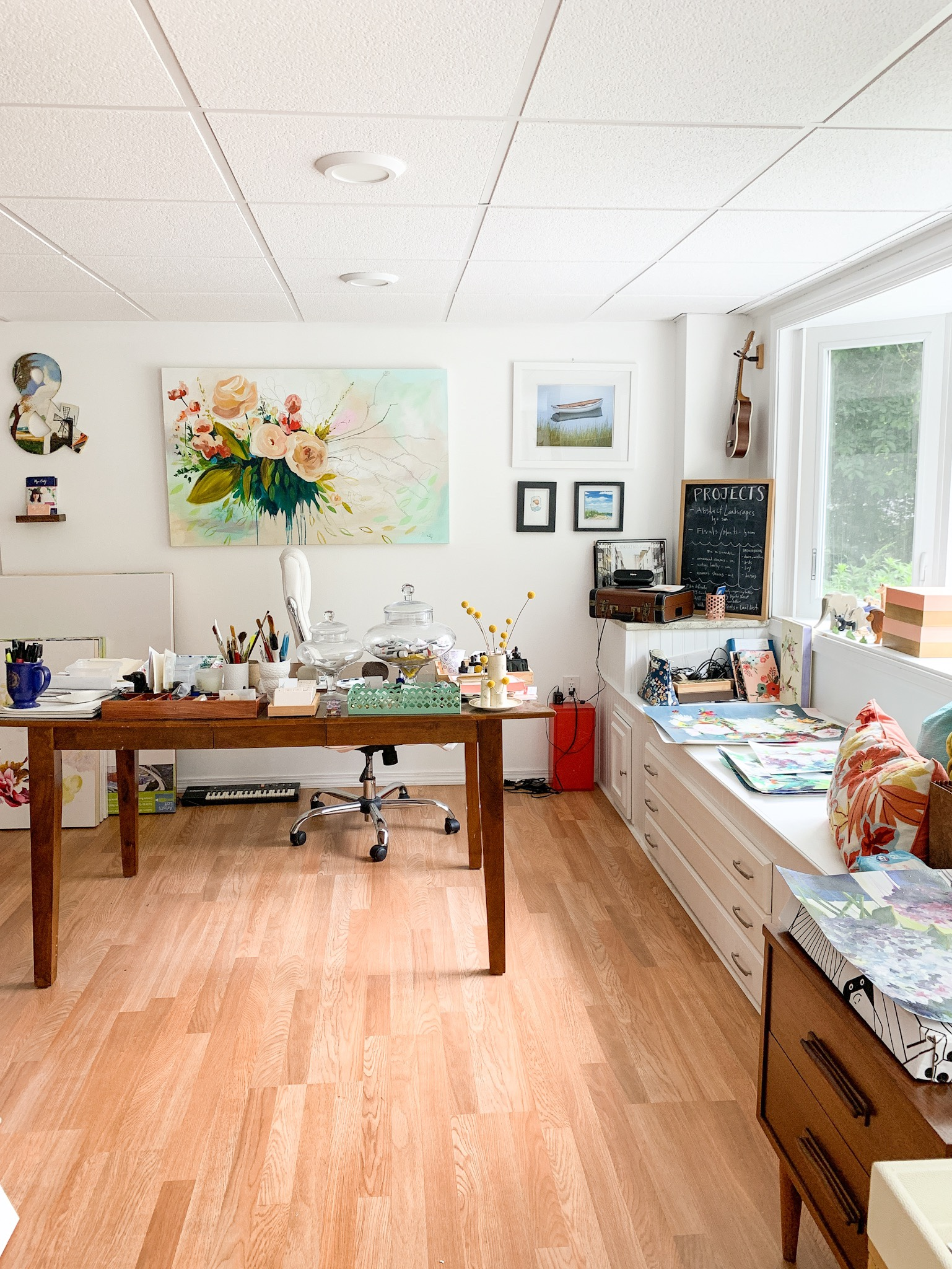 Art studio for floral painter Megan Carty