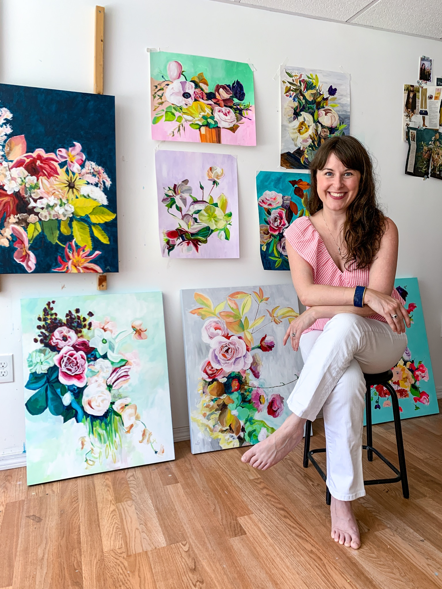 floral paintings by Megan Carty