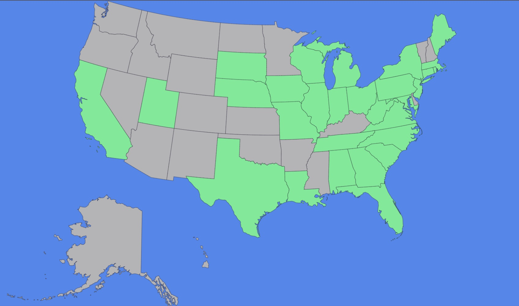 Are you in one of the grey states? Email us to get your bonus discount!