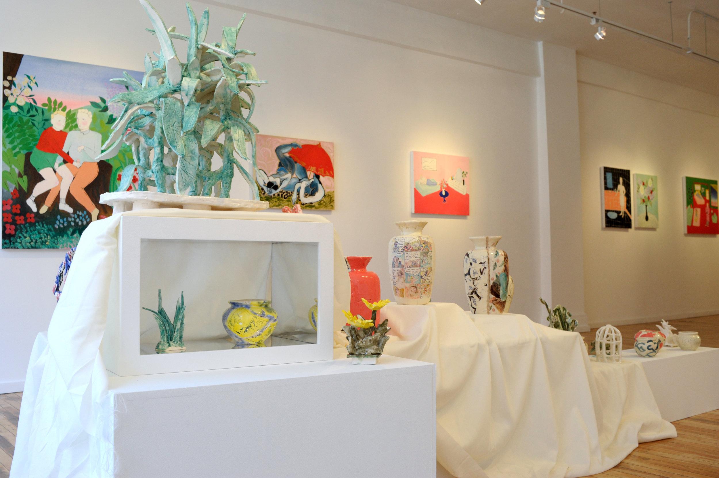 WestWall_ceramics + Paintings by all.JPG