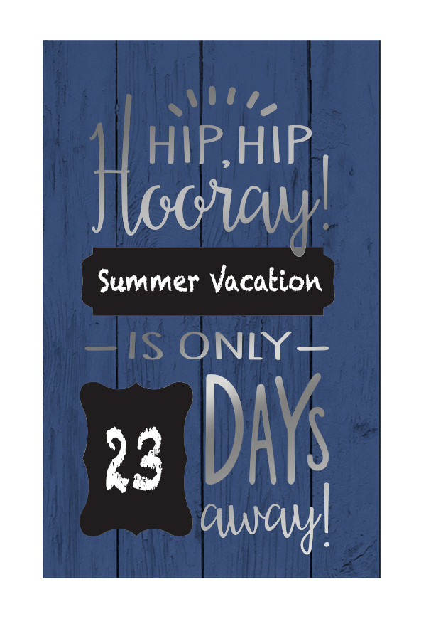 Hip, hip, hooray! Board - 14x18  (chalkboard features)