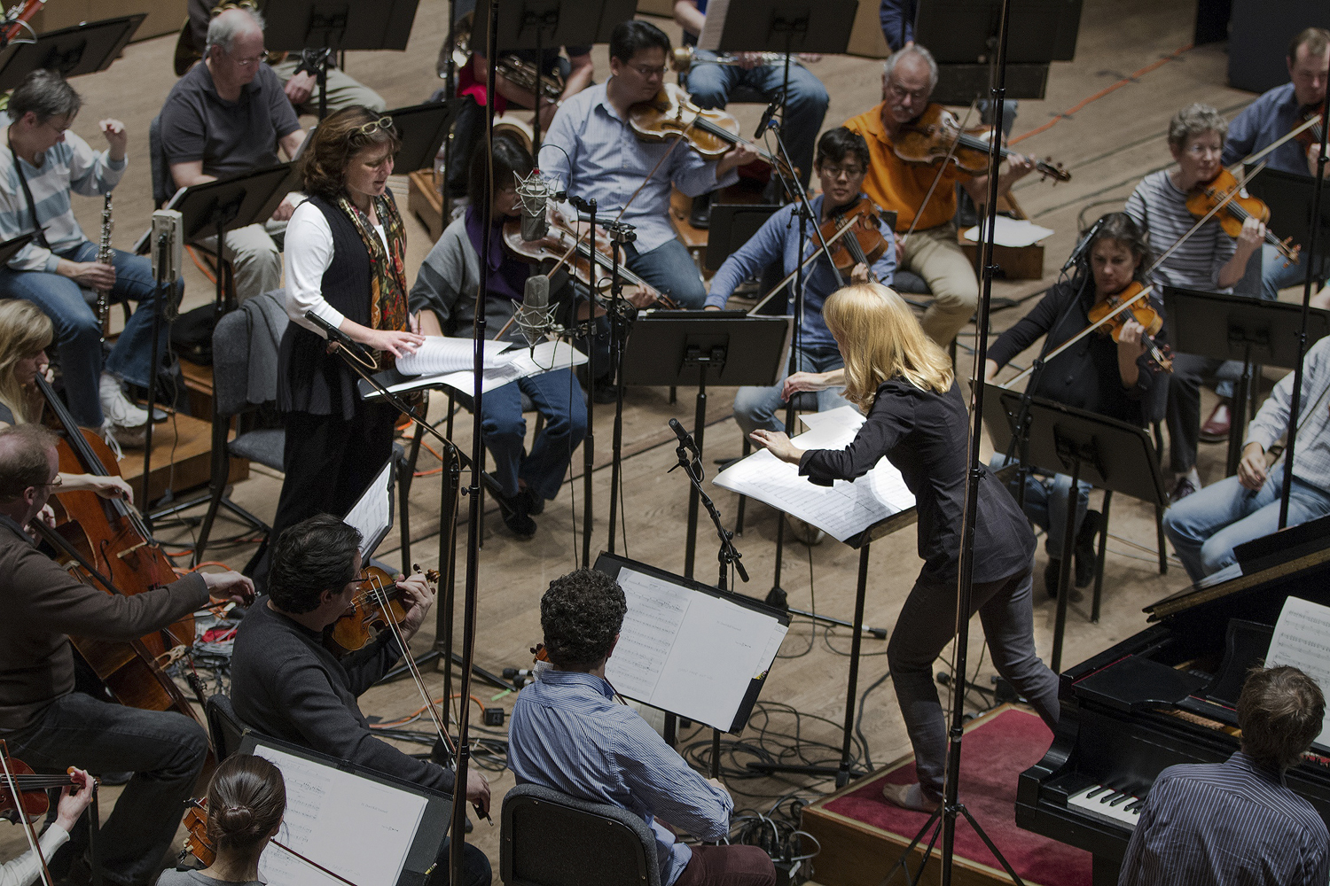 Recording St Paul Chamber Orchestra with Maria Schneider & Dawn Upshaw
