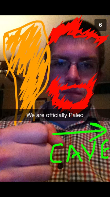 Chris' lovely artwork he sent me the day we started Paleo/Wahls