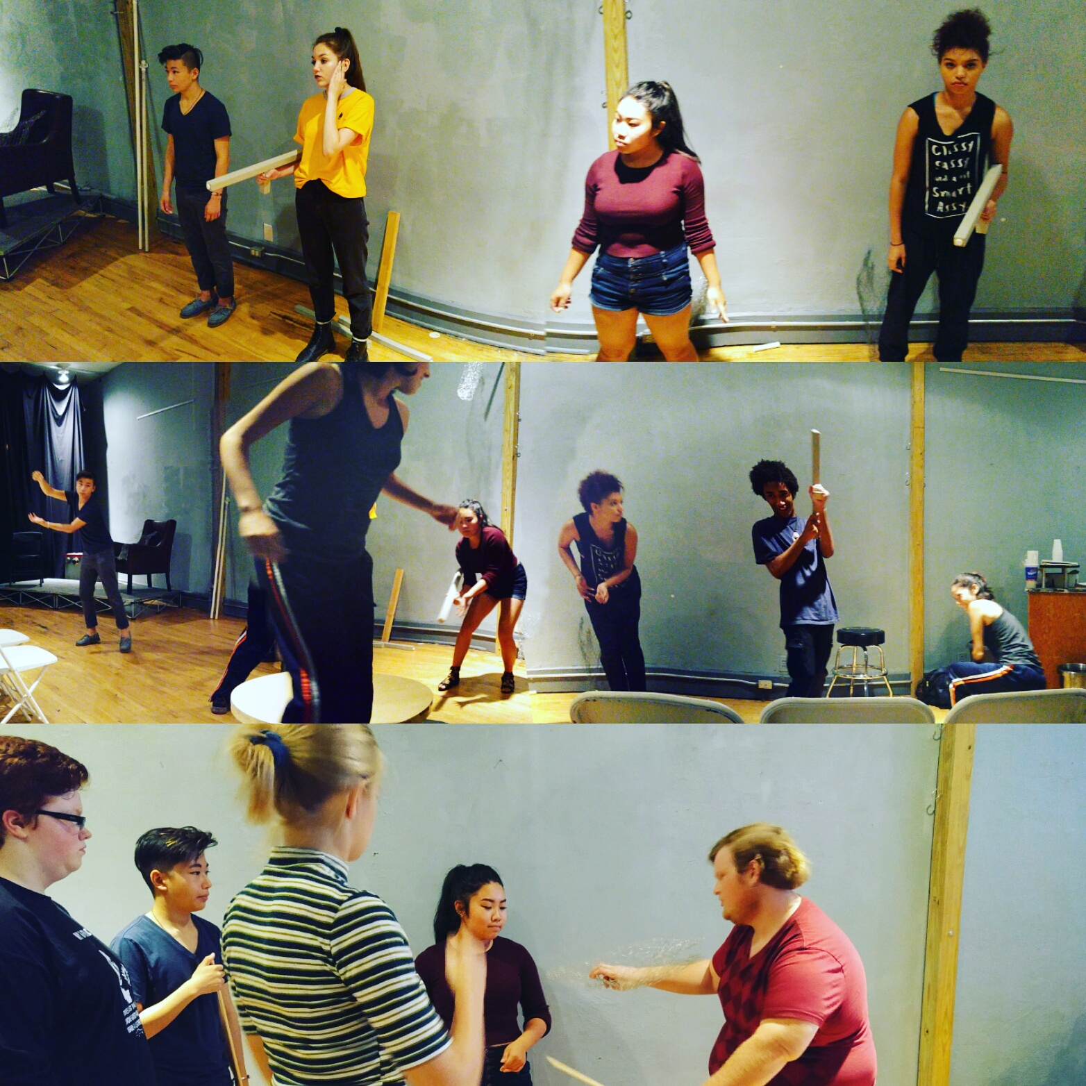 Rehearsal shots from the upcoming   She Kills Monsters .