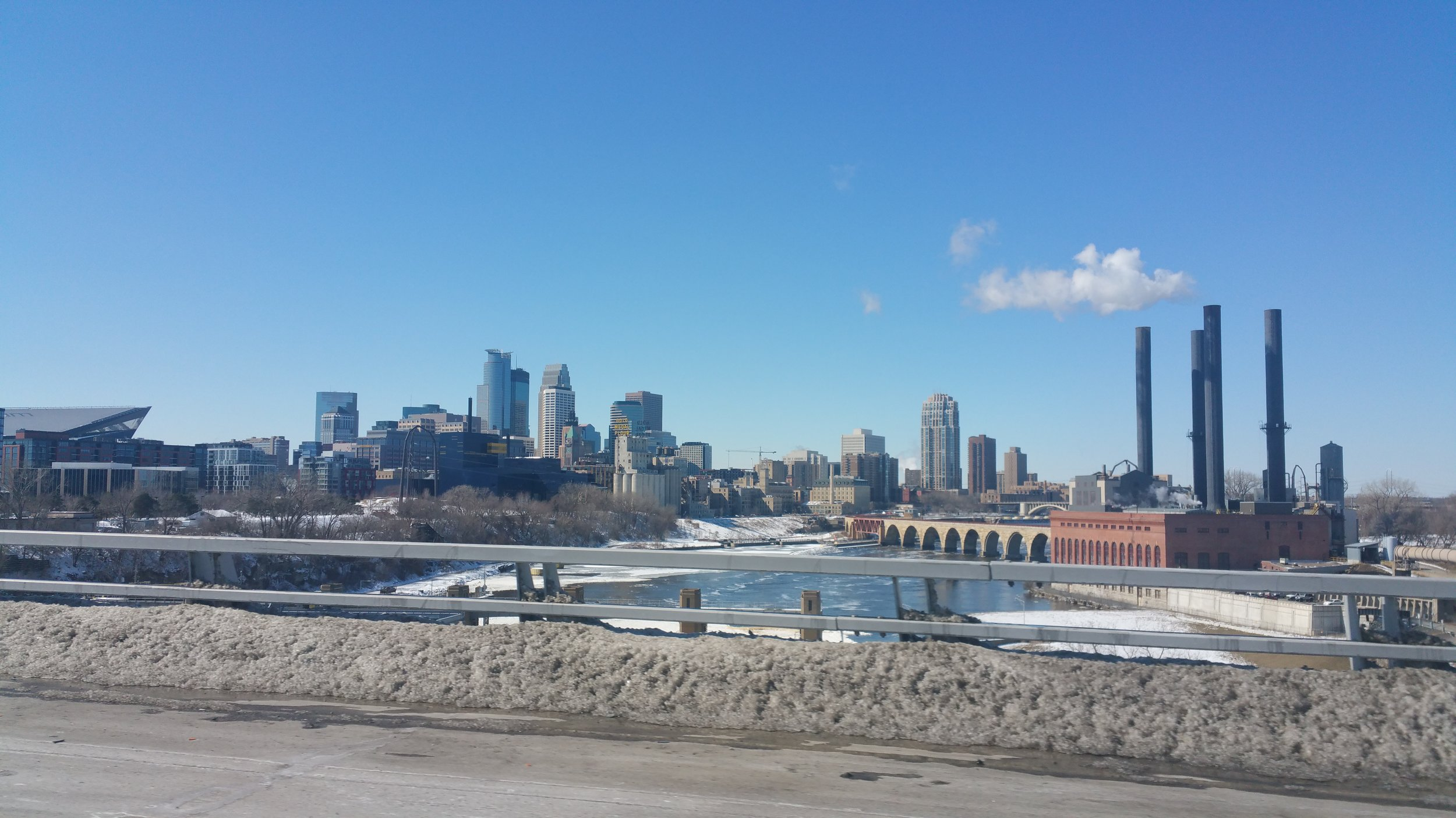 A beautiful Spring day driving past a beautiful spot in Minneapolis.