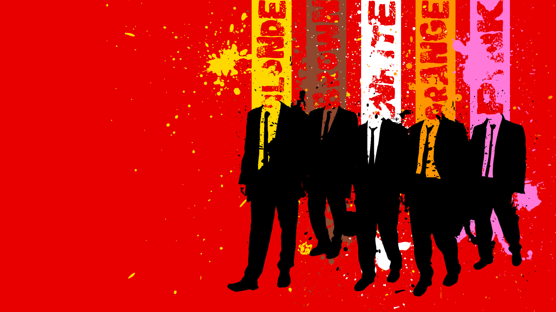 Seis criminales son contratados por Joe Cabot   y su hijo Nice Guy Eddie   para un trabajo. Escondidos bajo nombres de colores: el señor Naranja   , el señor Blanco,  el señor Rosa  , el señor Rubio  , el señor Marrón   y el señor Azul   . Preparan minuciosamente el robo a un almacén de diamantes, pero la policía aparece en el momento del atraco convirtiéndolo en una masacre. Todo hace sospechar que hay un traidor infiltrado.