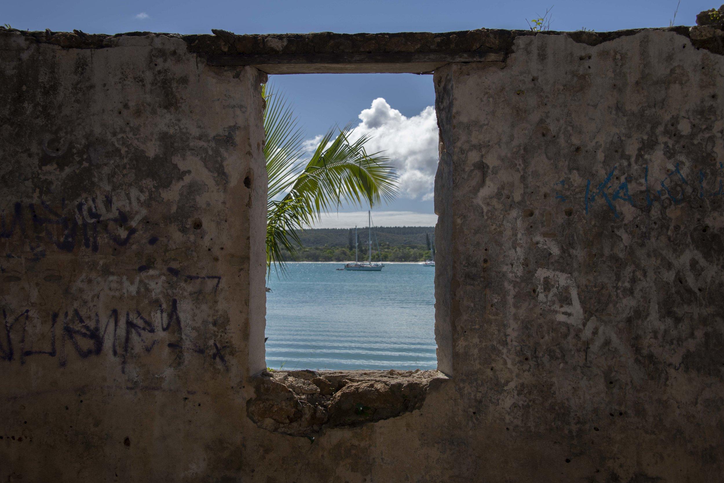 Ruins at Kuto Bay, Île des Pins, New Caledonia