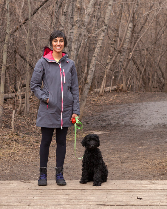 Deepika and Nibby enjoying the Mill Creek ravine.