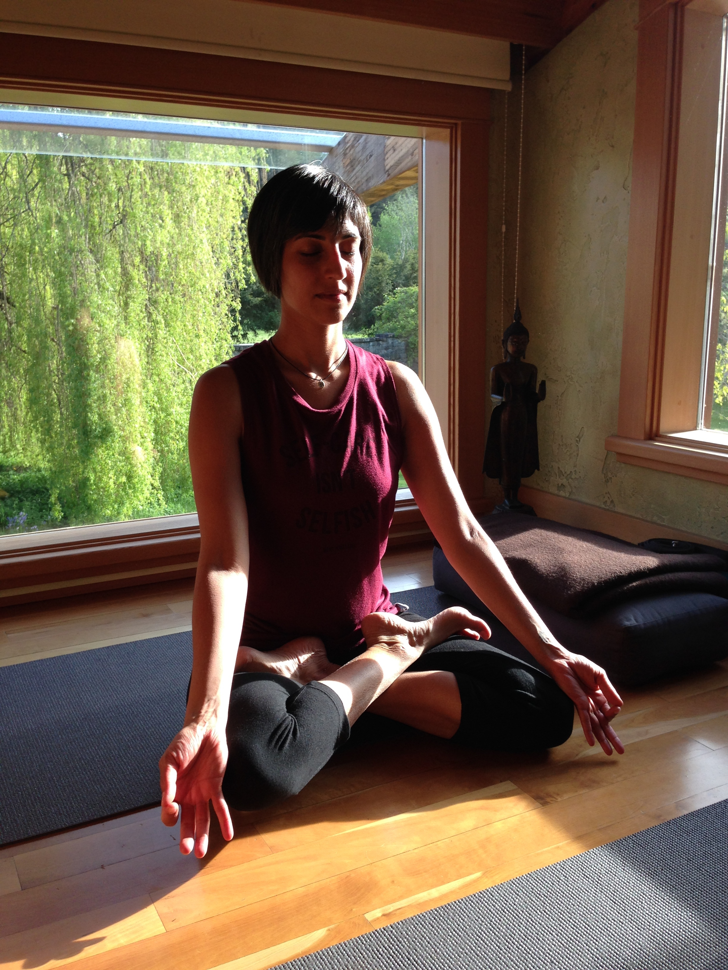 A moment of calm during a yoga and meditation retreat in 2017.