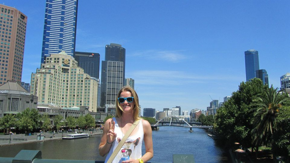 The only touristy photo of me in Melbourne. Taken by my friend Jo Maxwell, while visiting in 2013.
