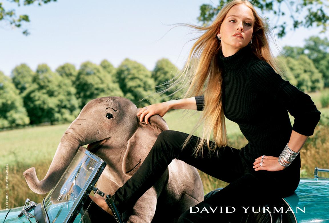 Client: David Yurman Art Direction: Sam Shahid Photographer: Bruce Weber Model: Jean Campbell
