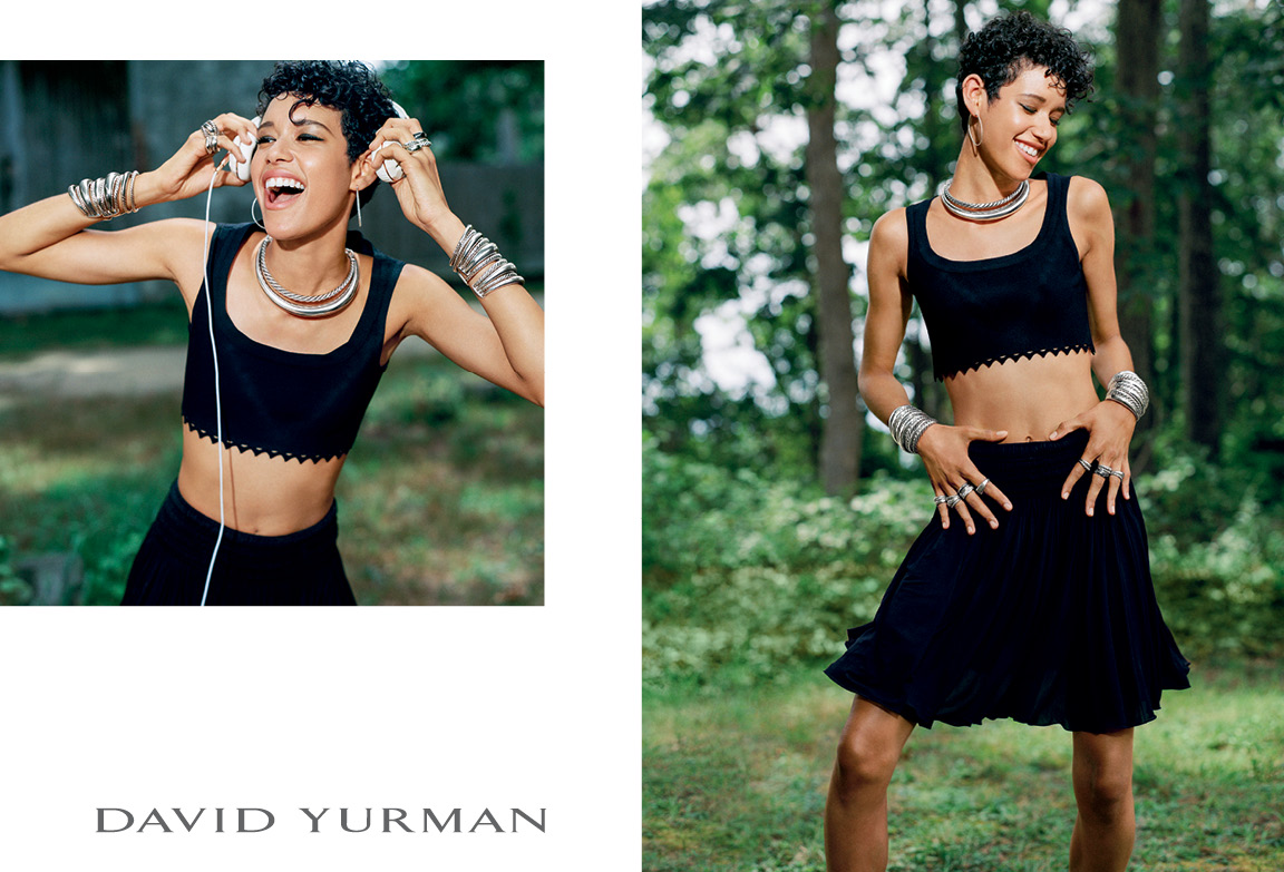 Client: David Yurman Art Direction: Sam Shahid Photographer: Bruce Weber Model: Dilone