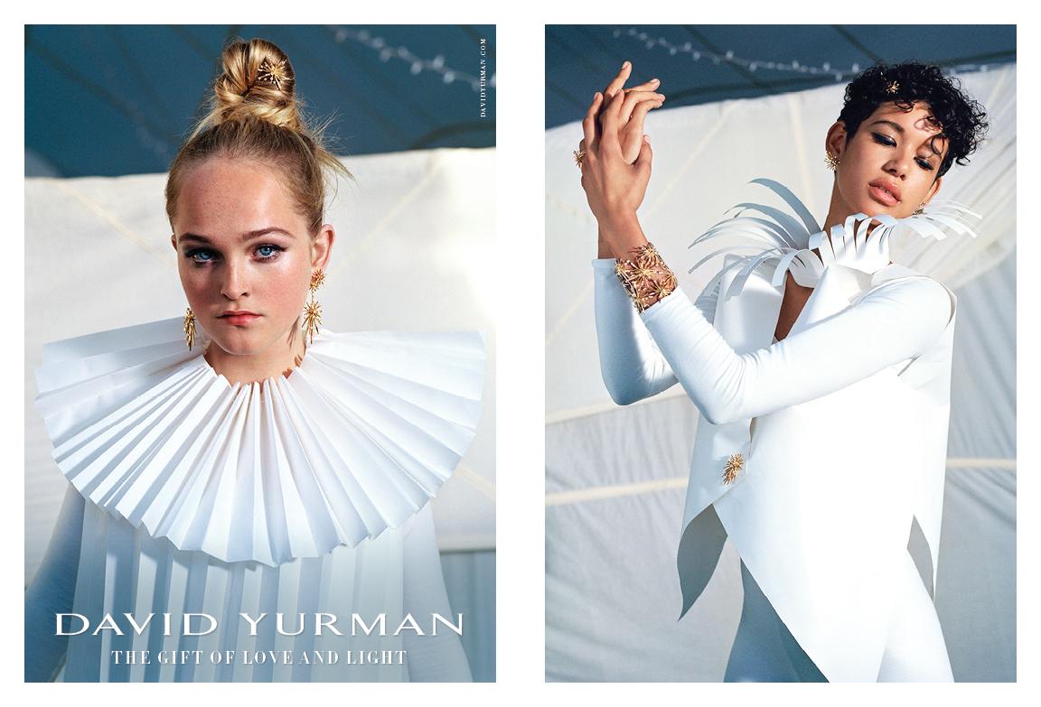 Client: David Yurman Art Direction: Sam Shahid Photographer: Bruce Weber Models: Jean Campbell &Dilone