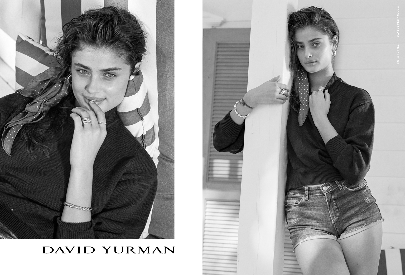 Client: David Yurman Season: Spring / Summer 2017 Photography: Bruce Weber Art Director: Sam Shahid Models: Natalia Vodianova, Taylor Hill Product: Continuance Collection