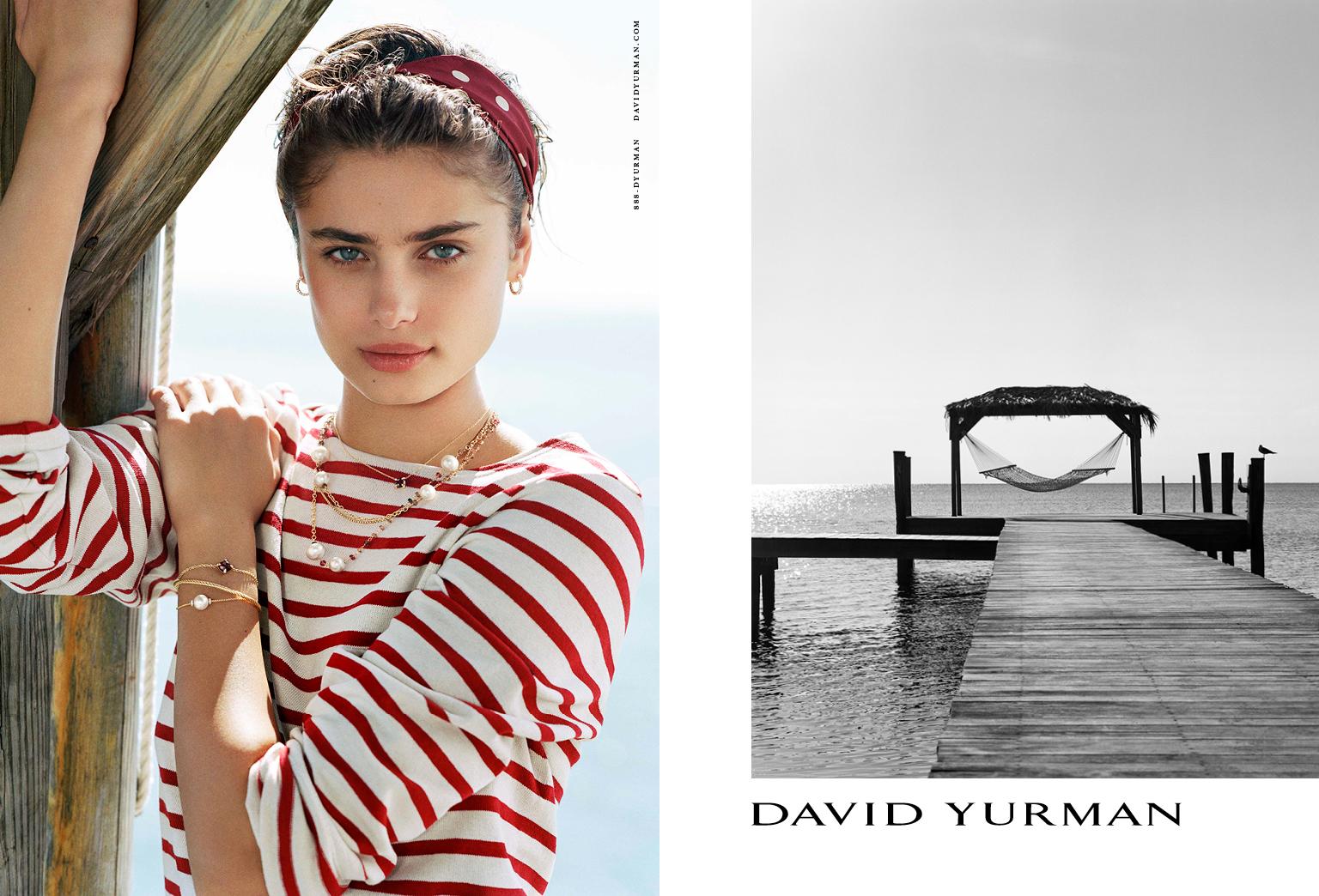 Client: David Yurman Season: Spring / Summer 2017 Photography: Bruce Weber Art Director: Sam Shahid Models: Natalia Vodianova, Taylor Hill Product: Pearls