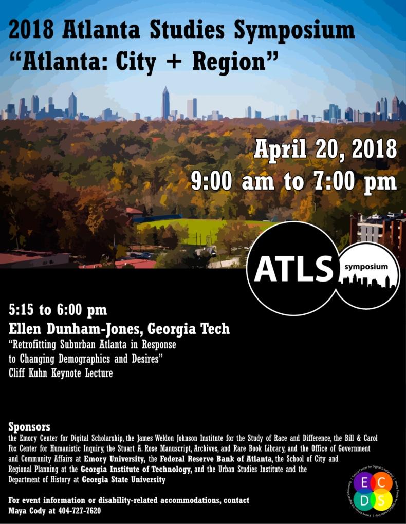 Atlanta Studies Symposium 2018 poster