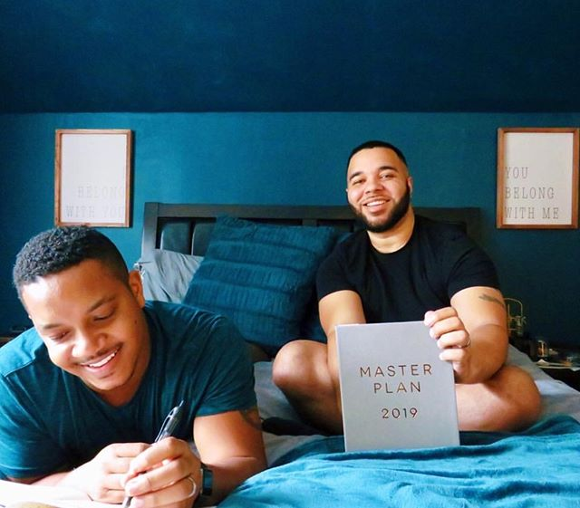 Shoutout to Alex + Ricky @ourboystory for using our Master Plan planner to pour in on their upcoming goals! . . . #eccoloworld #masterplan2019 #planneraddicct #showmeyourplanner #plannercommunity #linkinbio