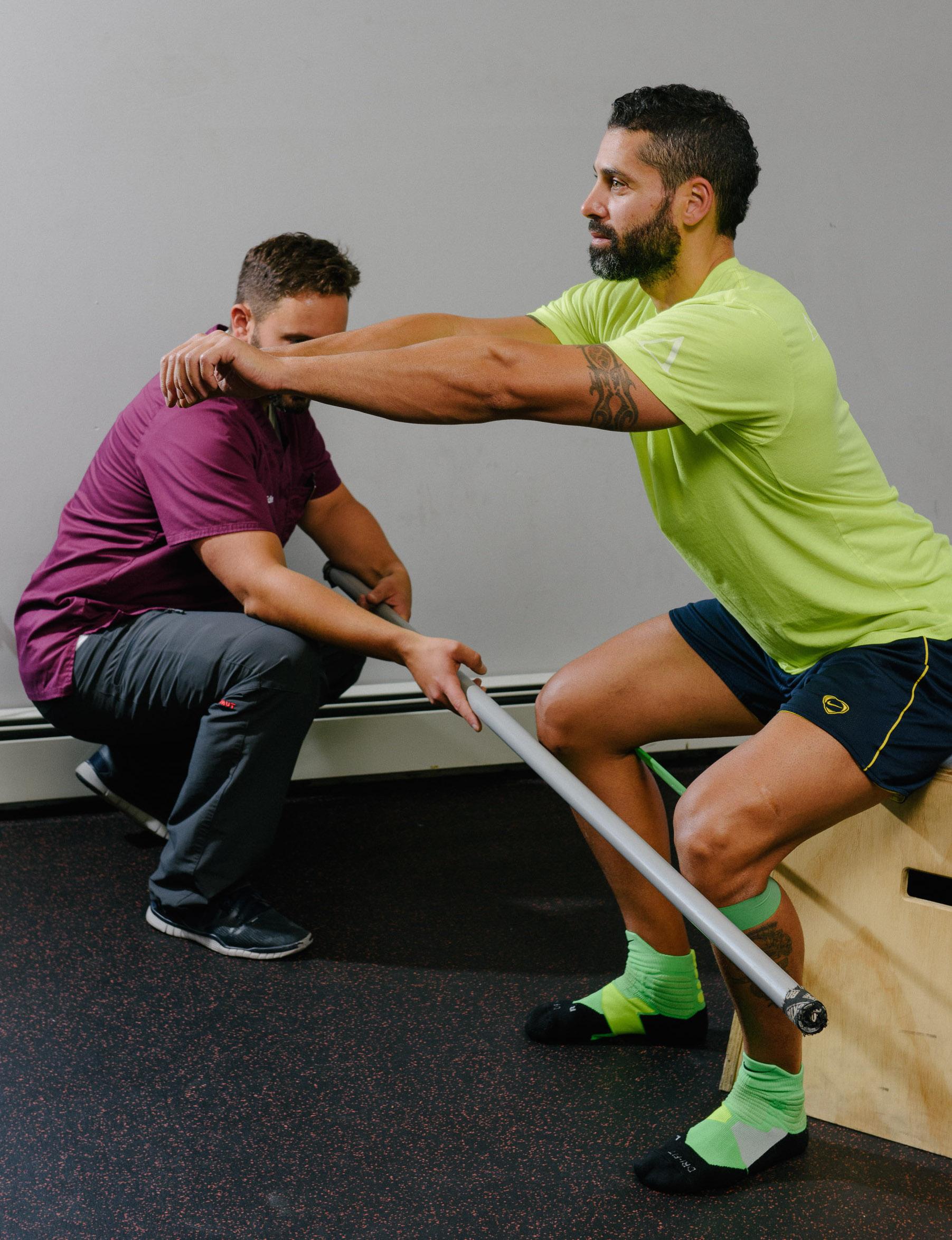 Proper squat mechanics at Functional Rehab