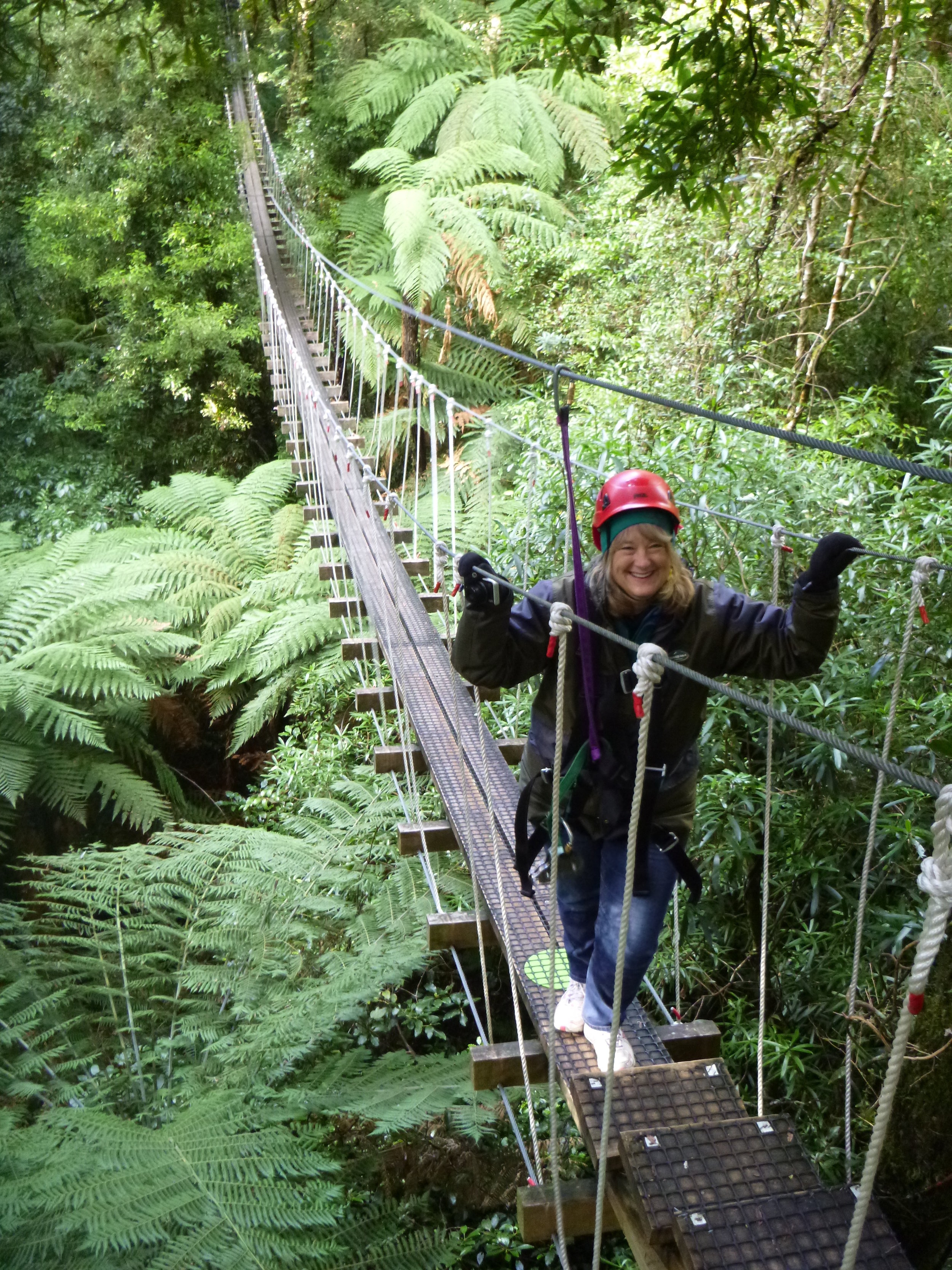 ZIplining through native NZ bush with Canopy Tours, Rotorua (Highly recommended!)