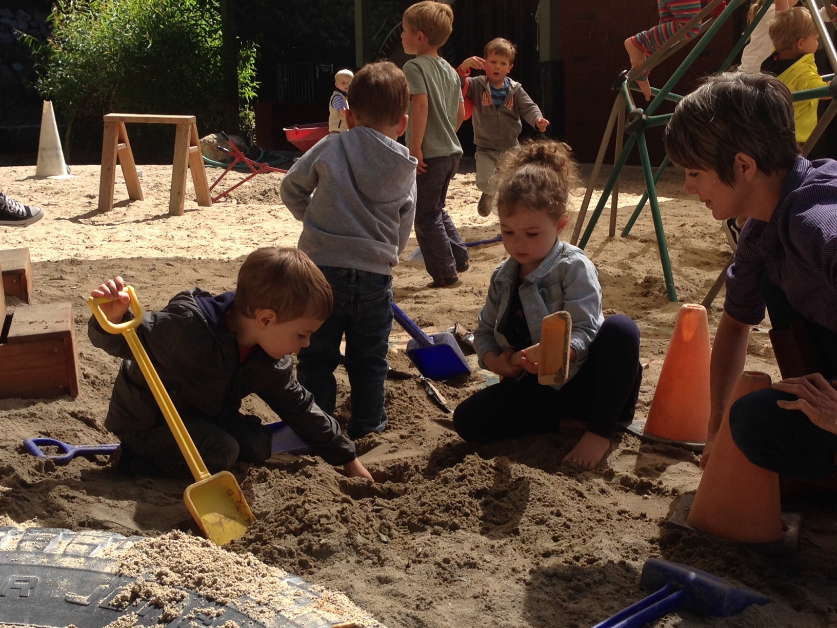 endless fun digging in the sand!