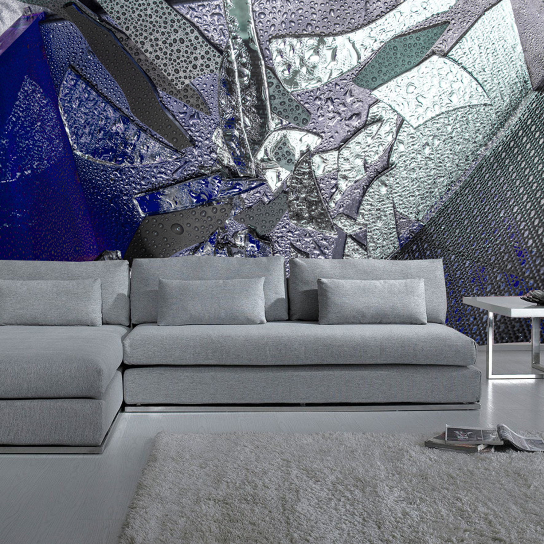 M3 COLLECTION  - Transforming modern composite materials Metal, Mesh and Mirror to generate a tridimensional feel on a 2D surface.