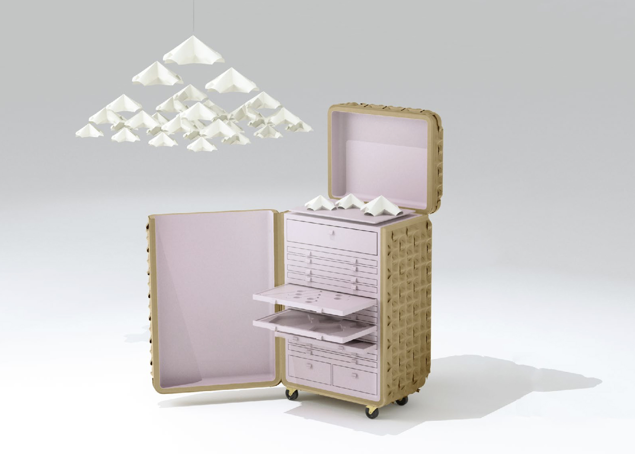 atelier oï x L'Atelier Casablanca  Parfum trunk and Honminoshi Garden  2016  Image courtesy of atelier oï