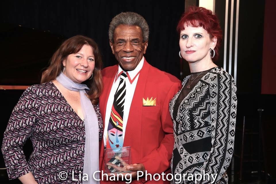 Photo of harpist Maria Banks, Andre DeShields & me by   Lia Chang Photography