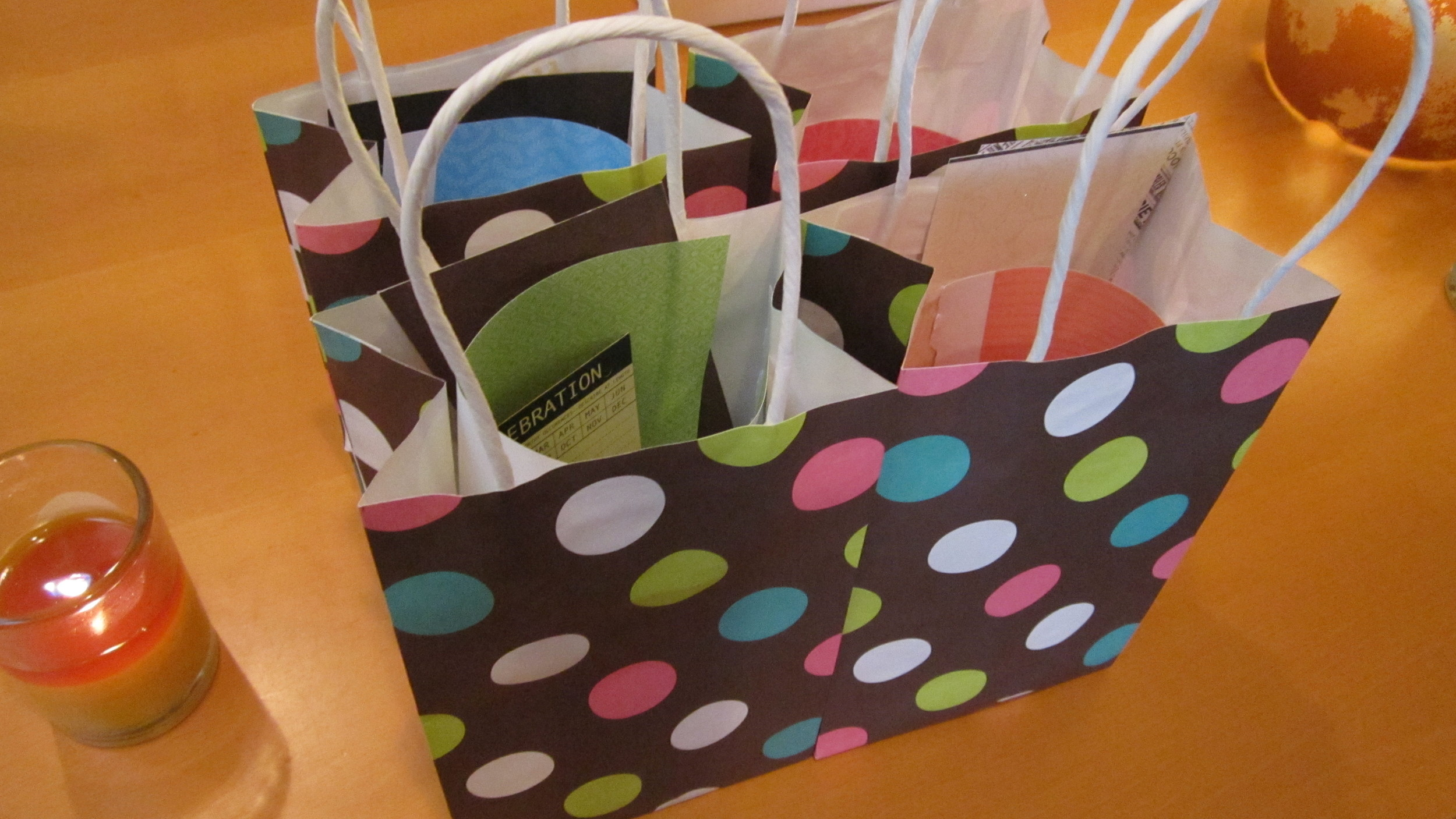 Special goodie bags for each guest.