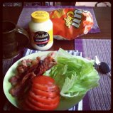 Left over breakfast gave us the ability to make BLT's! Yummy!