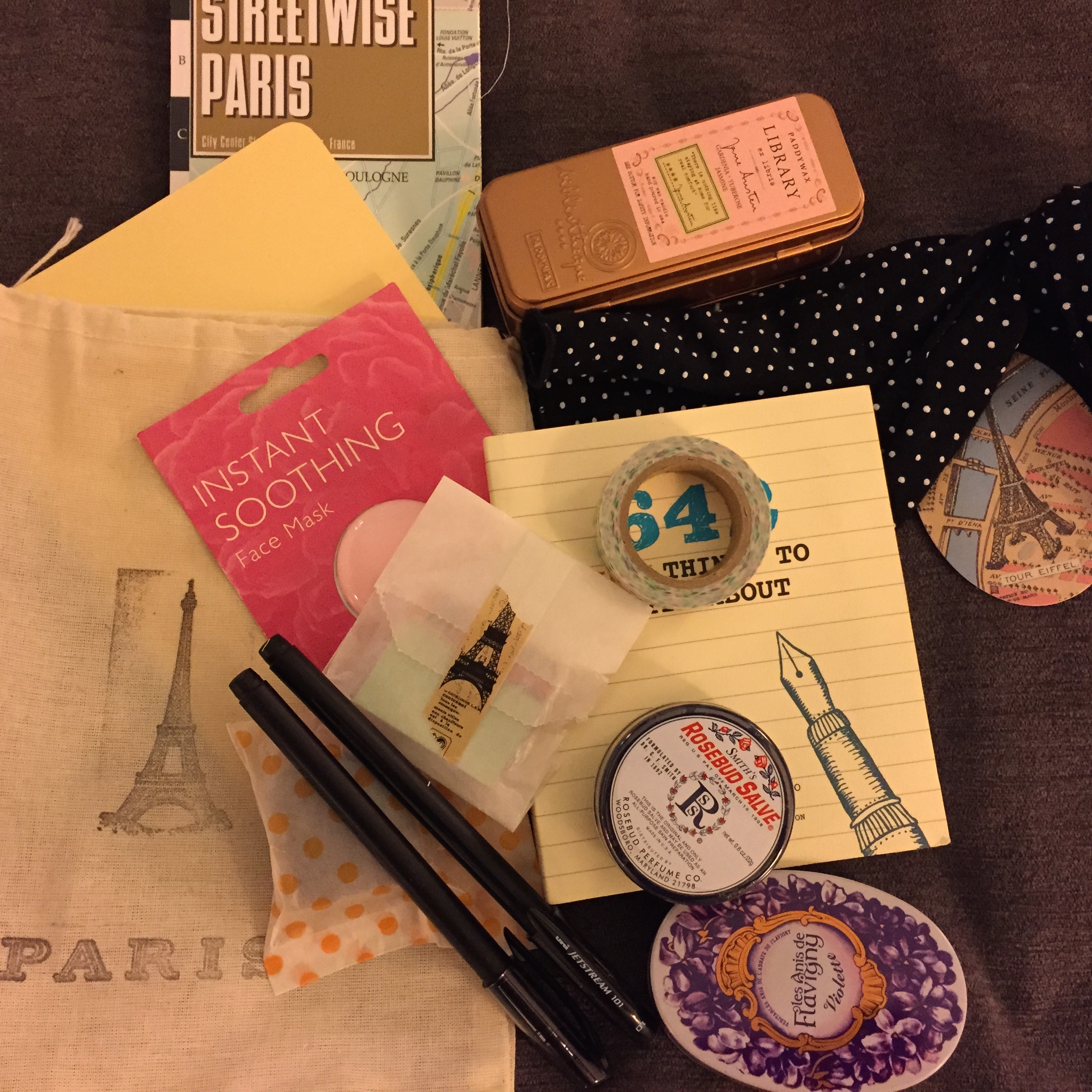 Sweet welcome goodie bag from the ever thoughtful Kimberly Wilson of Tranquility Du Jour