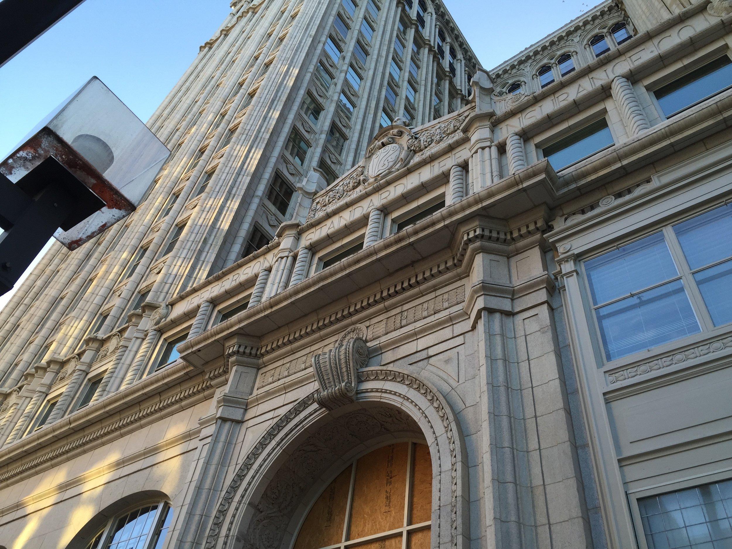 Jefferson Standard Building. Photo I took on a recent artist's date