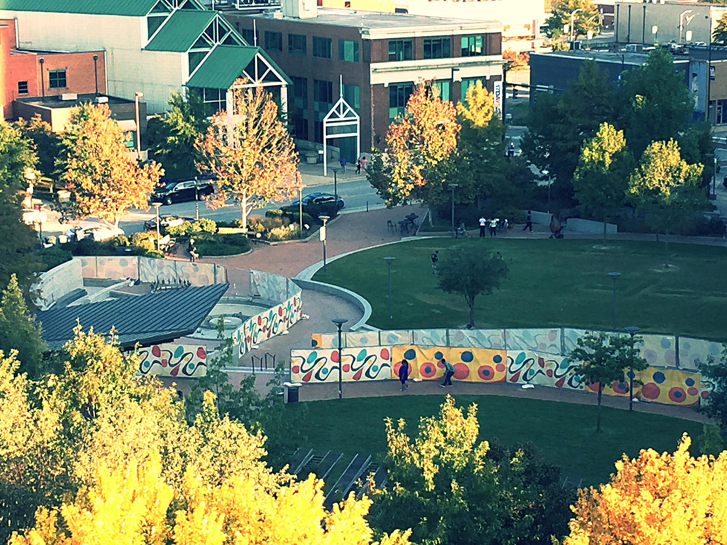 Center City Park taken from the Bellmeade parking deck