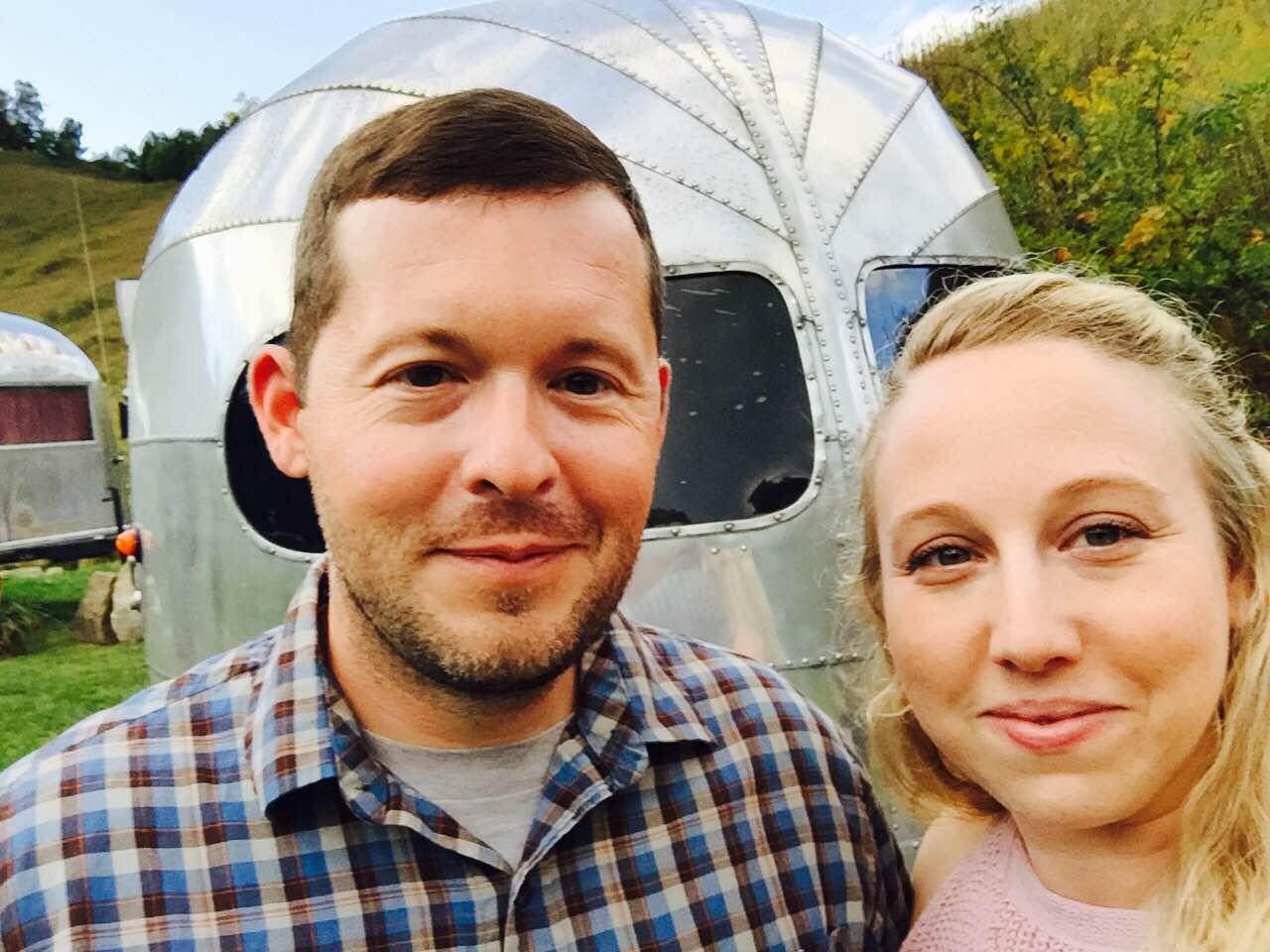 Sarah Chapman with her husband