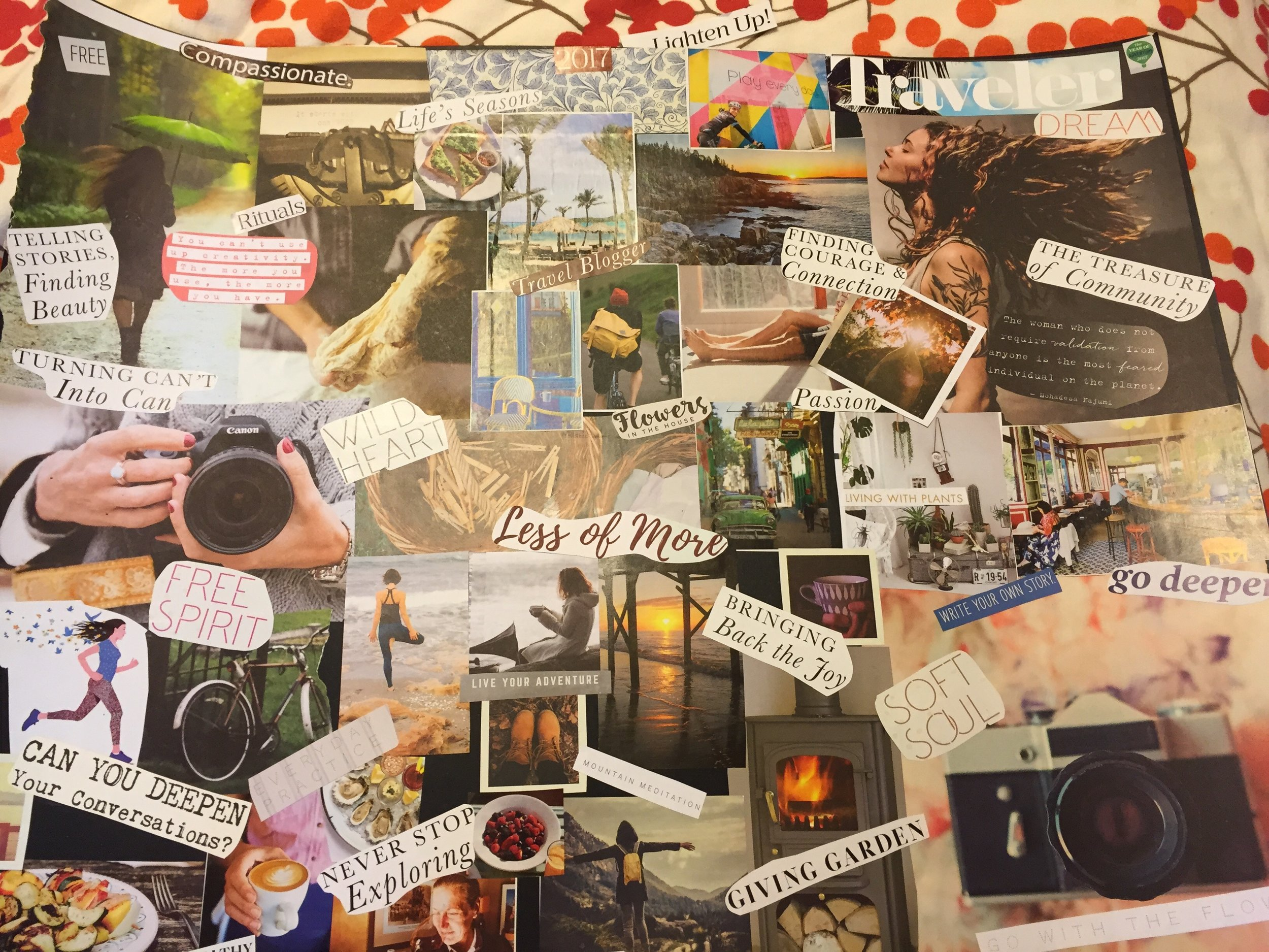 Vision Boards Help us Keep our intentions in focus