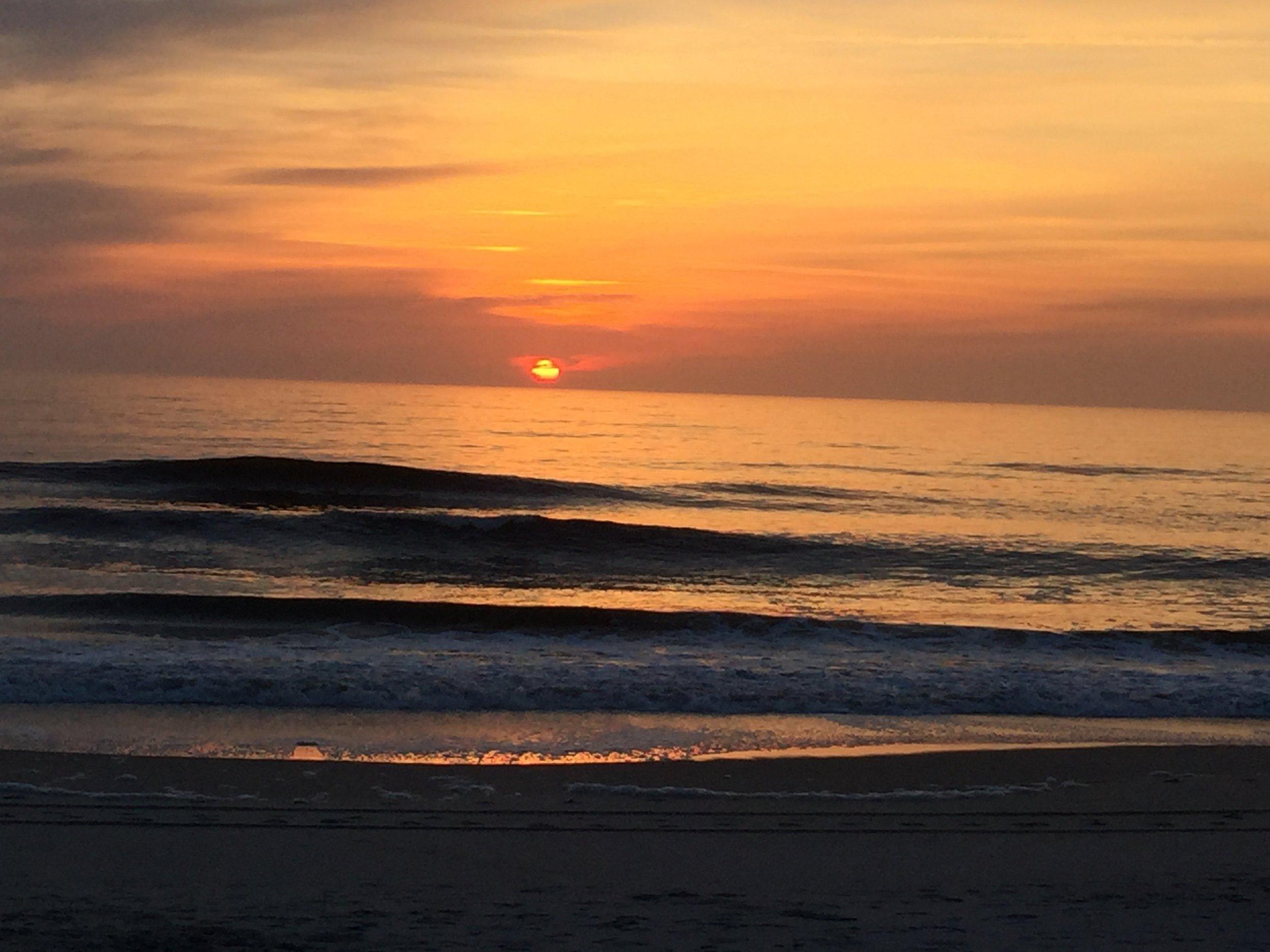 Sunrise at Carolina beach
