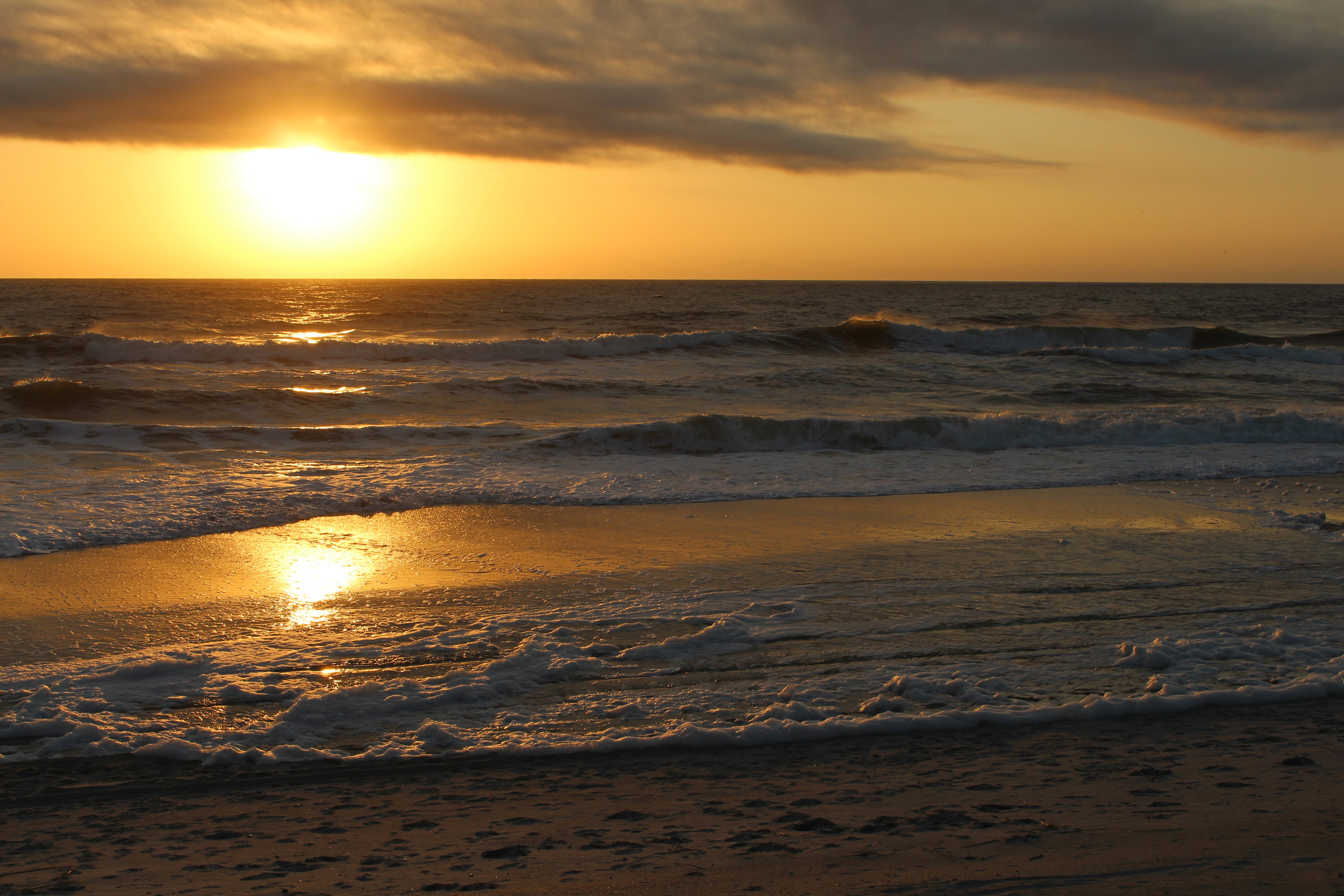 spectacular Carolina beach sunrise