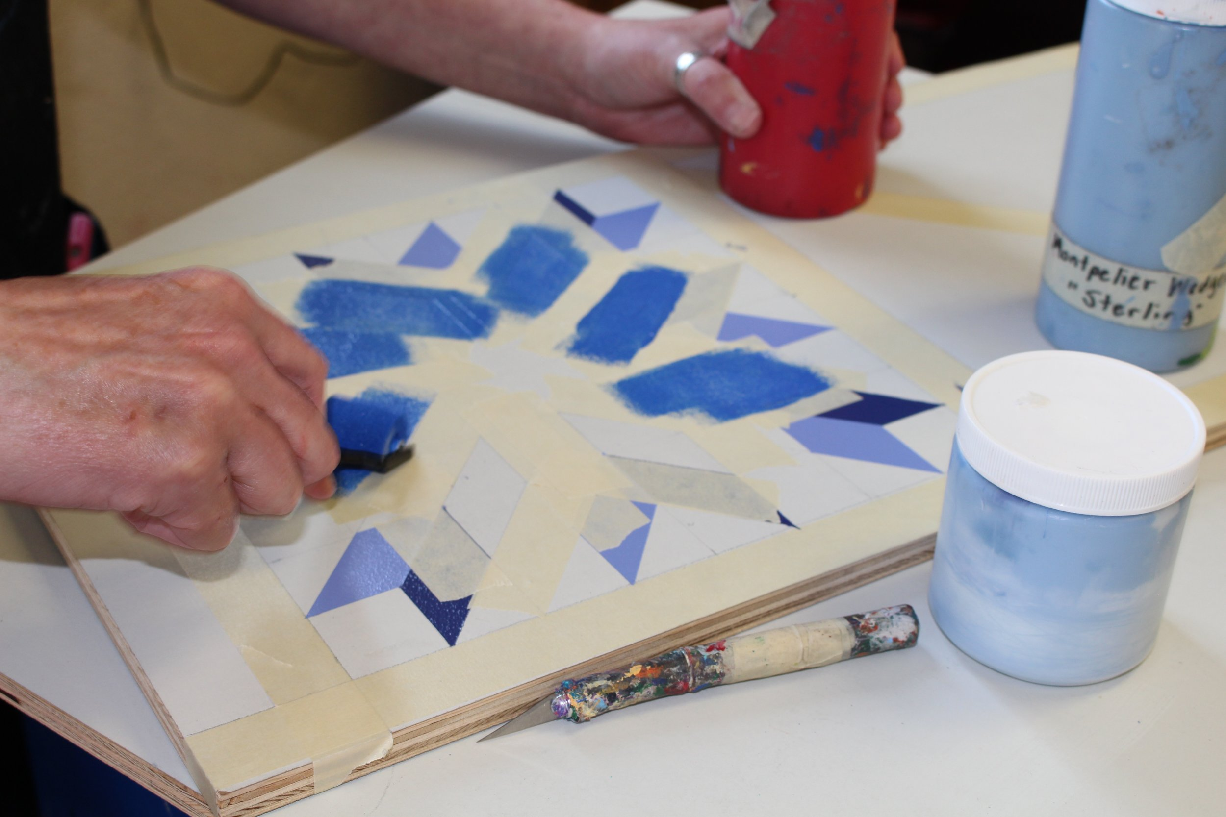 Barn quilt being made in West Jefferson NC