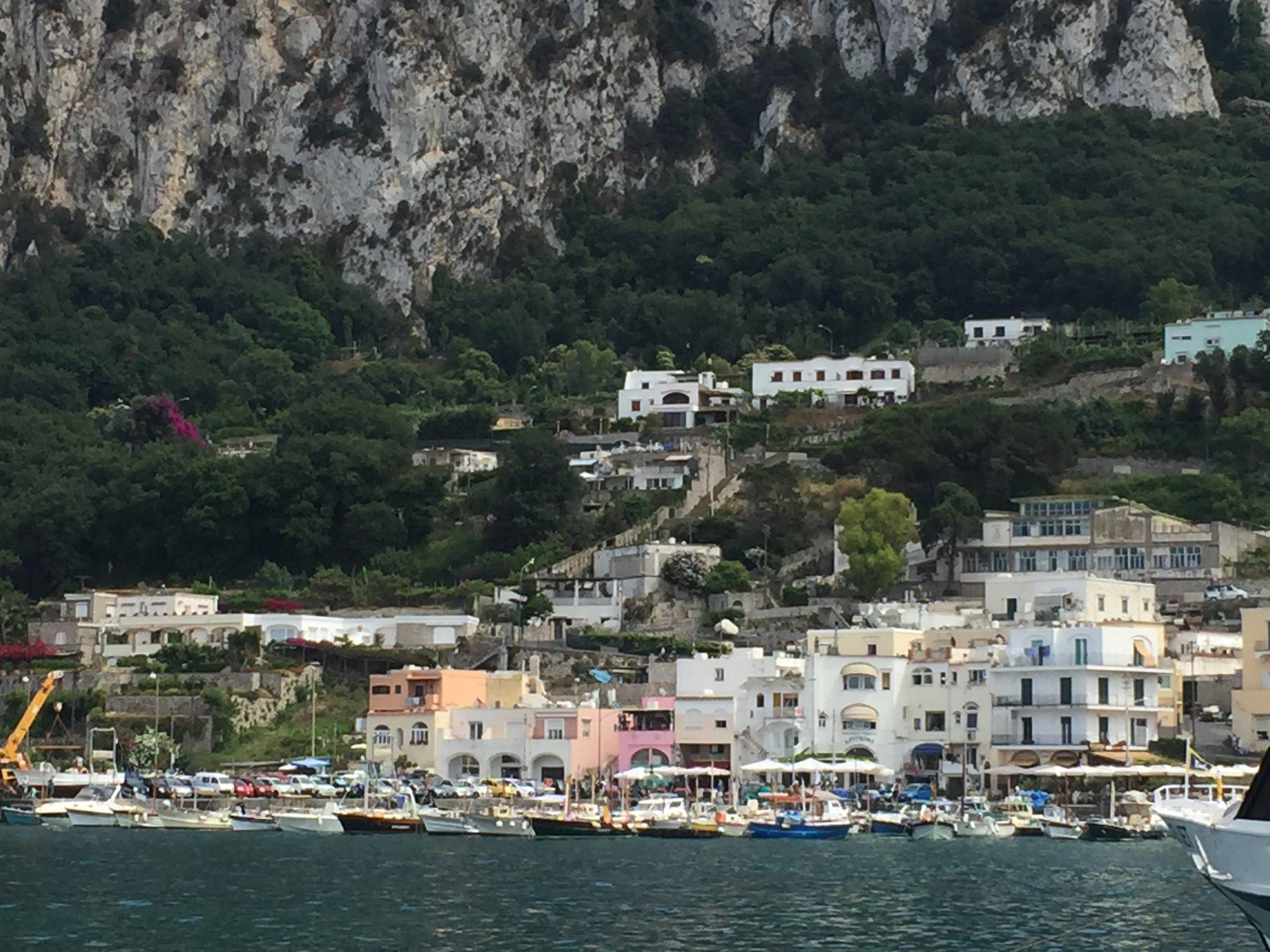 Boats in Capri, Italy