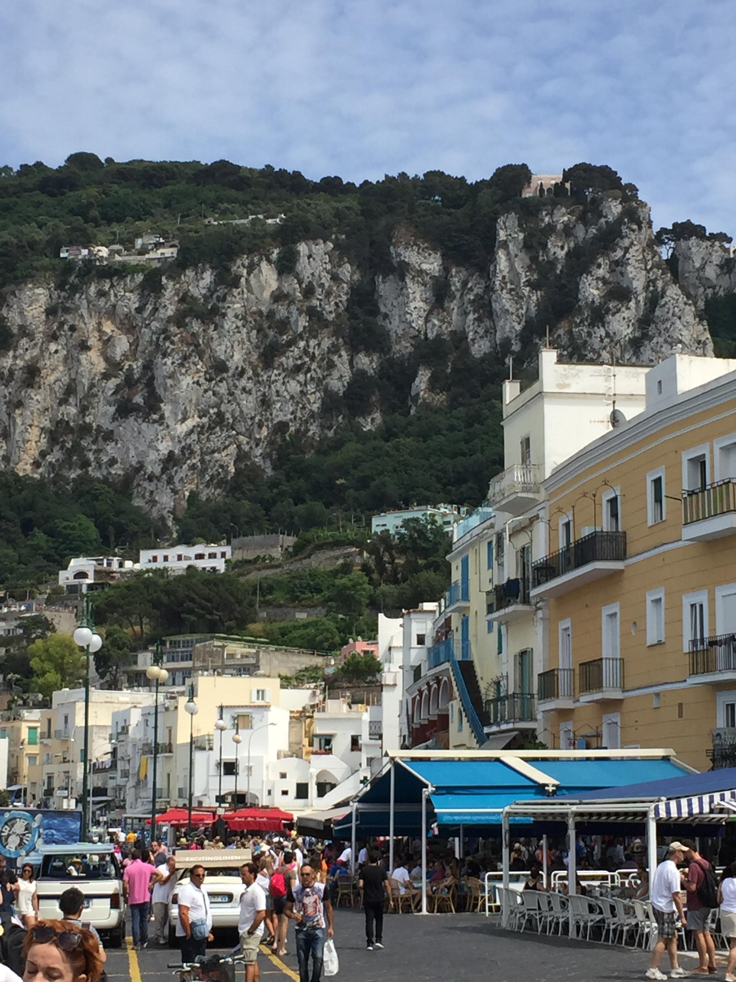 Capri, Italy Main City Square right off the boat