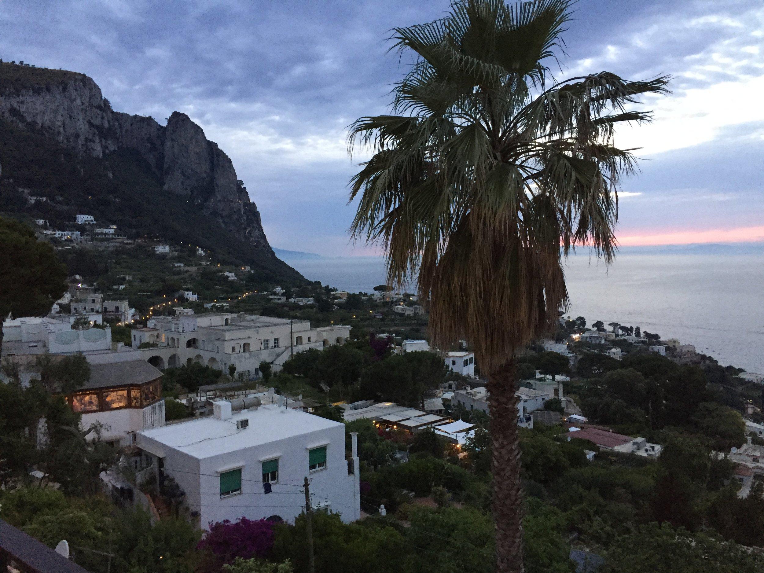 Evening View of Capri, Italy