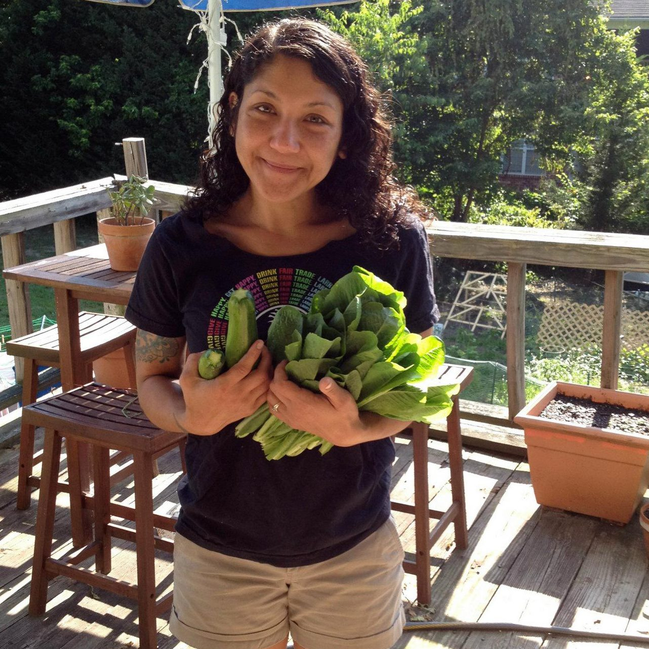 Melissa Poillot-Micca with Veggies