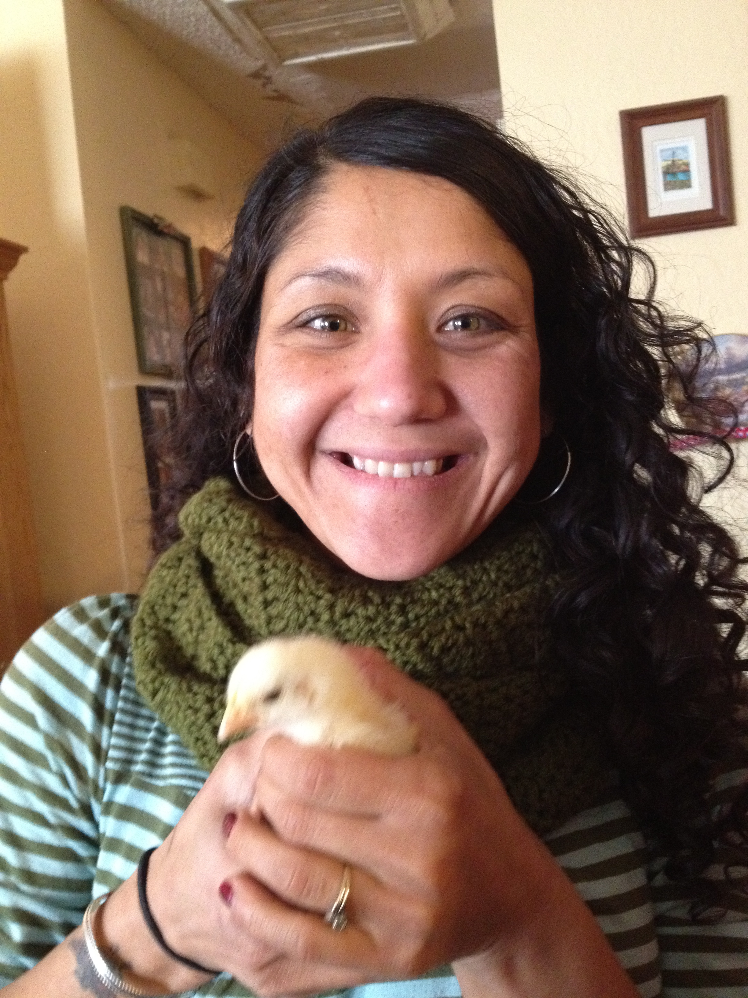 Melissa Poillot-Micca with Chick