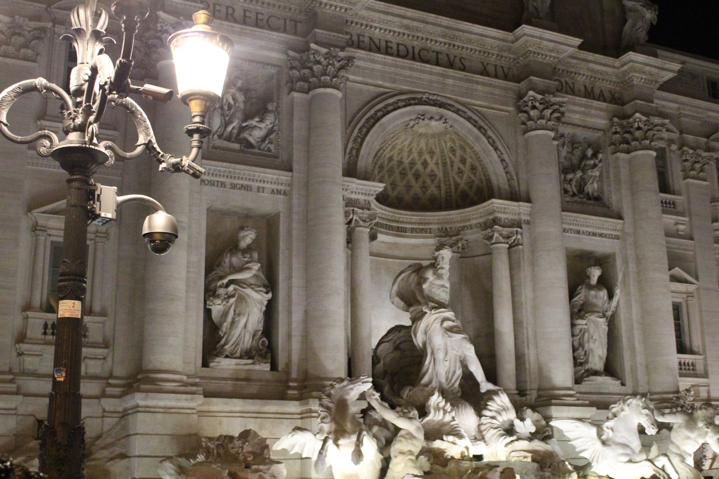 This is the Trevi fountain, a little blurry but this picture is what Rome at night feels like. Maybe even a little blurry after a big dinner a few glasses of wine and limoncello